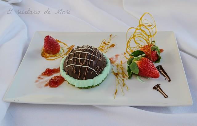 Bizcocho de menta y semifrio de chocolate 1