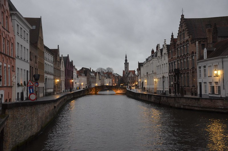 Lovely Bruges in twilight