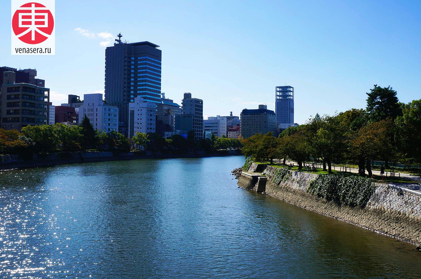 Мост Айой, Aioi Bridge, 相生橋, Хиросима, Hiroshima, 広島, Хонсю, Honshu, 本州, Япония, Japan, 日本.
