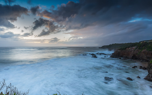 ocean longexposure sea wild clouds sunrise canon coast moody cloudy dramatic coastline rugged cavesbeach
