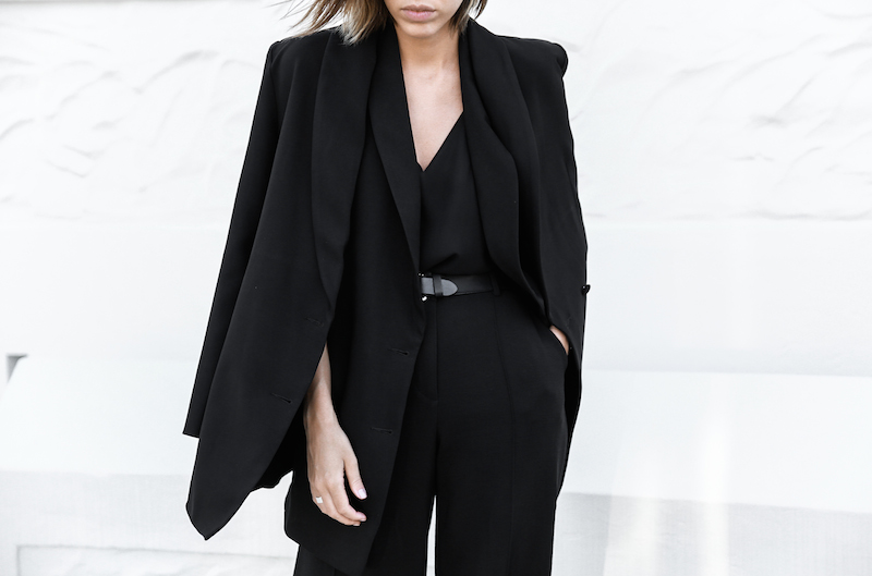 all black street style office work wear inspo suit Givenchy Antigona medium fashion blogger modern legacy  (2 of 2)