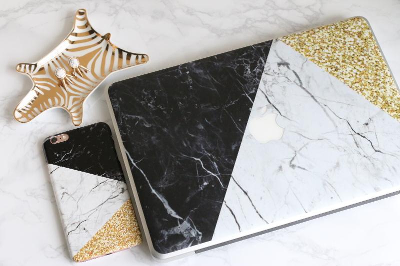 marble custom phone case, laptop macbook skin