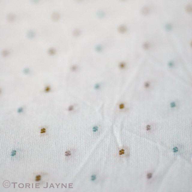 White Stuff Swiss Dot Fabric Patch
