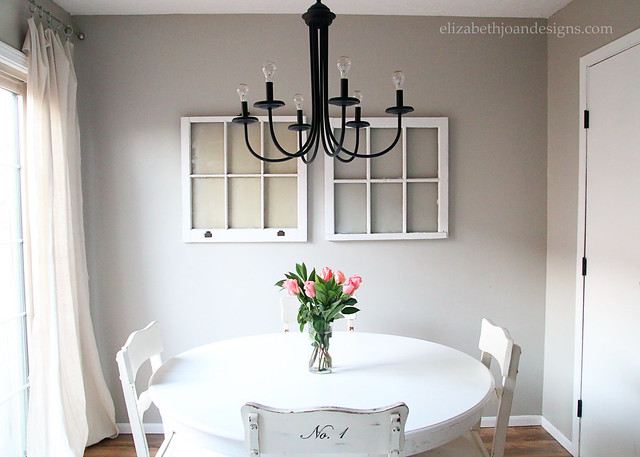 Windows Wall Decor in Dining Room