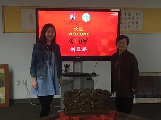 March 01 '16 CCTV Major Production Center Director Visits CISDSU