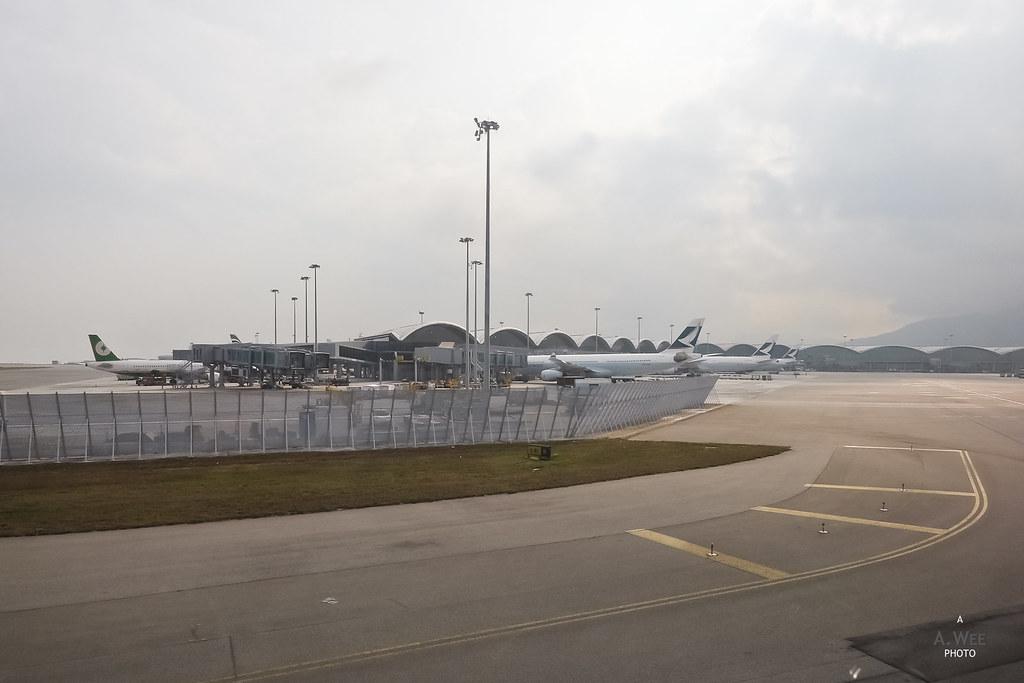 Landing at HKIA