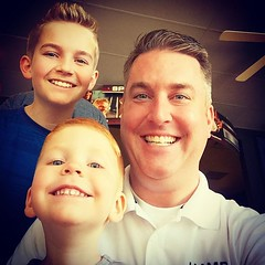 Haircuts.   Check!   Thanks guys at #SportsClips!  #LoveTheseGuys #OneProudFather #JohnGStevens
