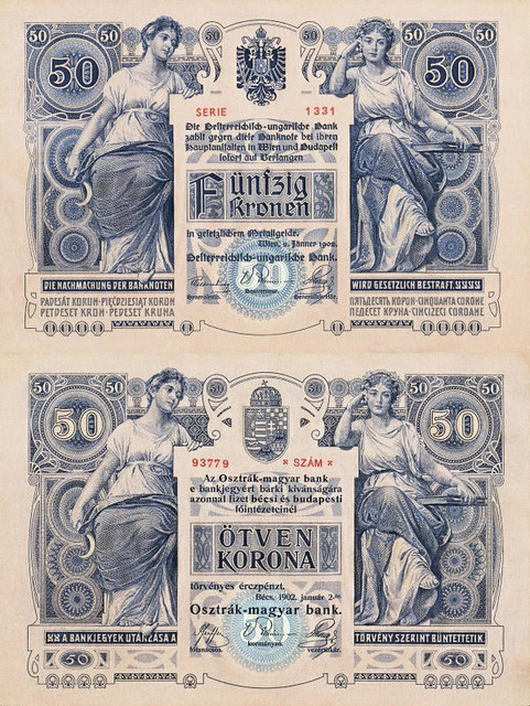 50 Korún Rakúsko-Uhorsko 1902 P06, REPLIKA
