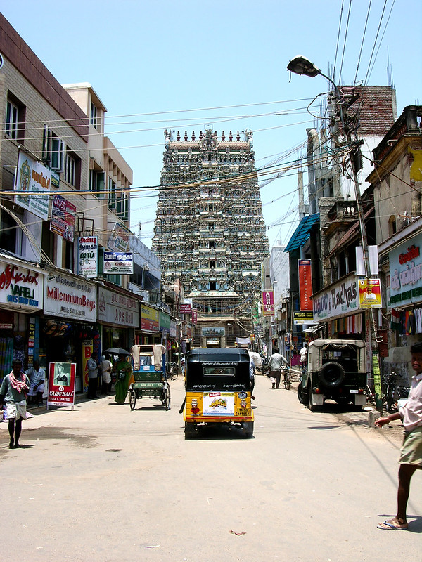 Camino del Templo de Sri Meenakshi