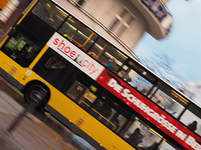 blurry berlin bus