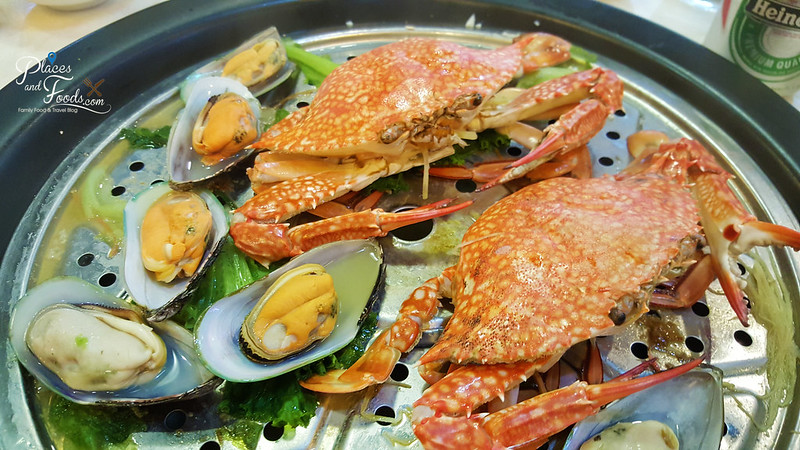 kungfu steam seafood restaurant in sunway steamed crab and mussels