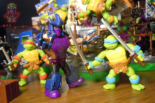tOkKUSTOM :: 88 SHREDDER - MEGA BLOKS Mini viii / .. vs.CLASSIC Toon LEONARDO '16 mini fig