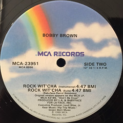 BOBBY BROWN:ROCK WIT'CHA(LABEL SIDE-B)