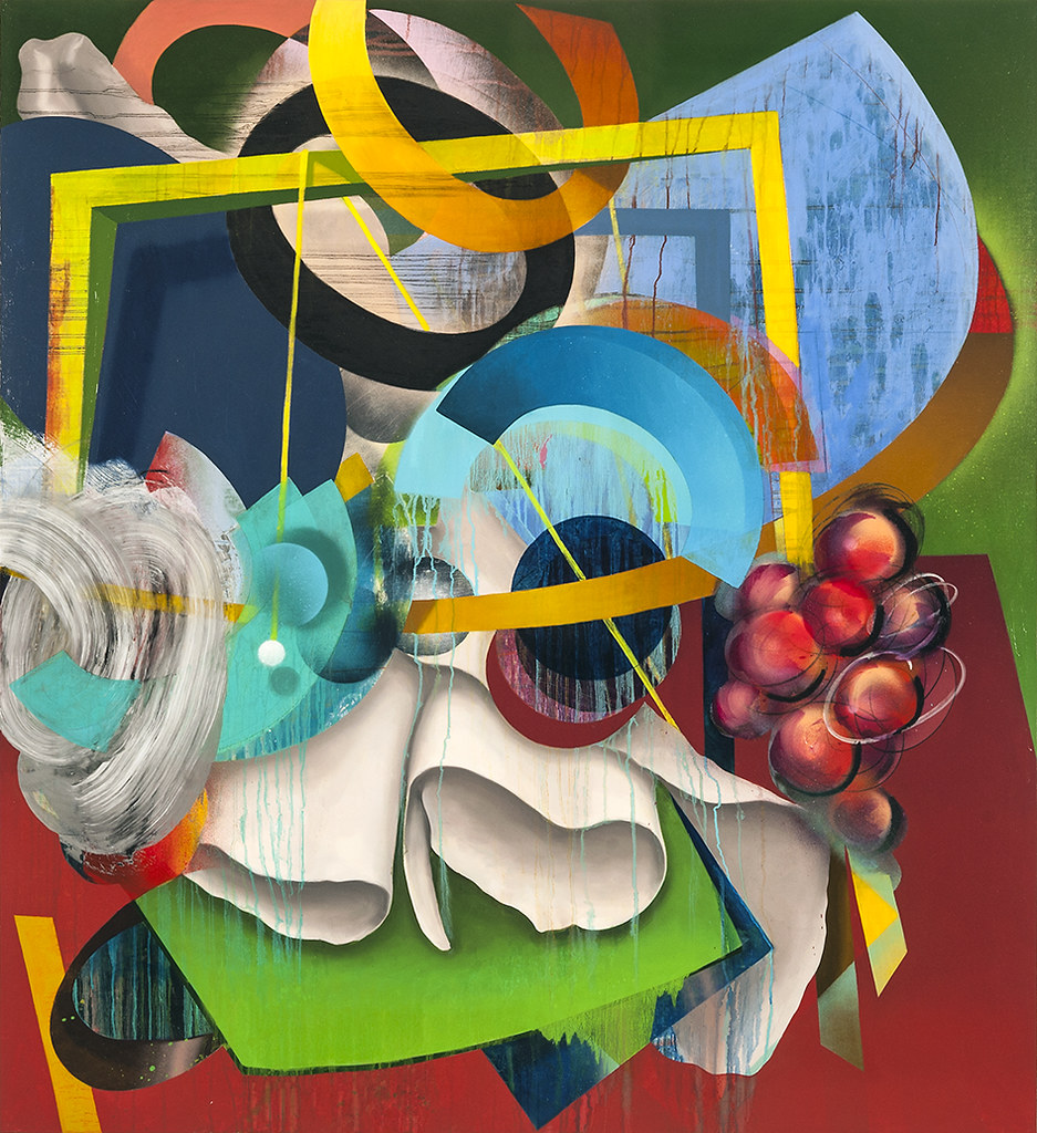 "The Nature of Things #4, 2015, 46"" x 42"", oil and spray paint on canvas"