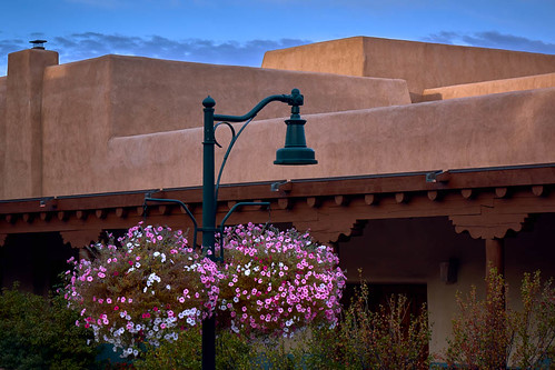 morning flowers newmexico santafe lamp architecture sunrise us unitedstates blooms