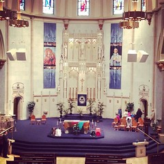 Mission Week kicks off today with 11:30 Mass at Gesu! Notice anything different about the church?