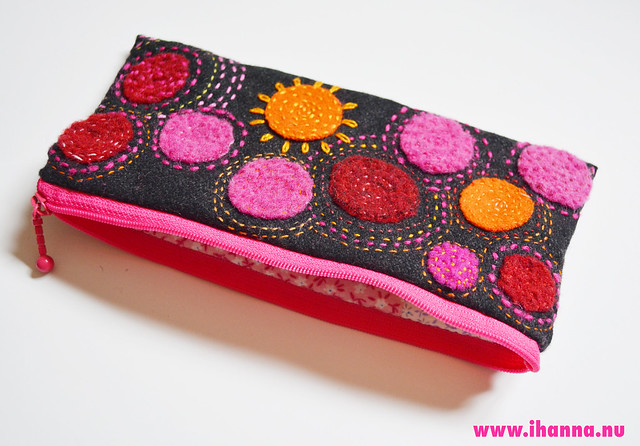 Embroidered Polka dot Pencil Case made by iHanna - Copyright Hanna Andersson