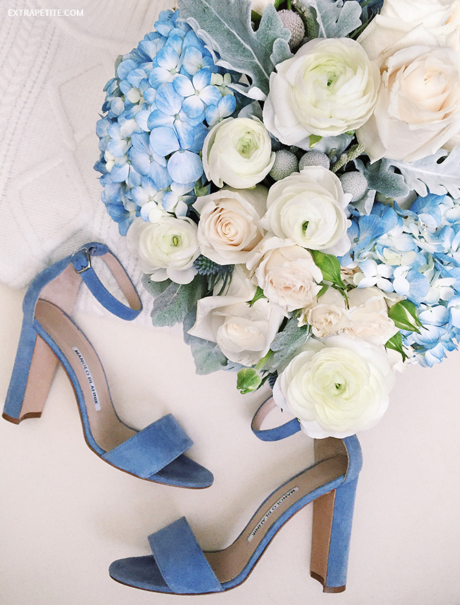 manolo blahnik blue suede wedding shoes sandals