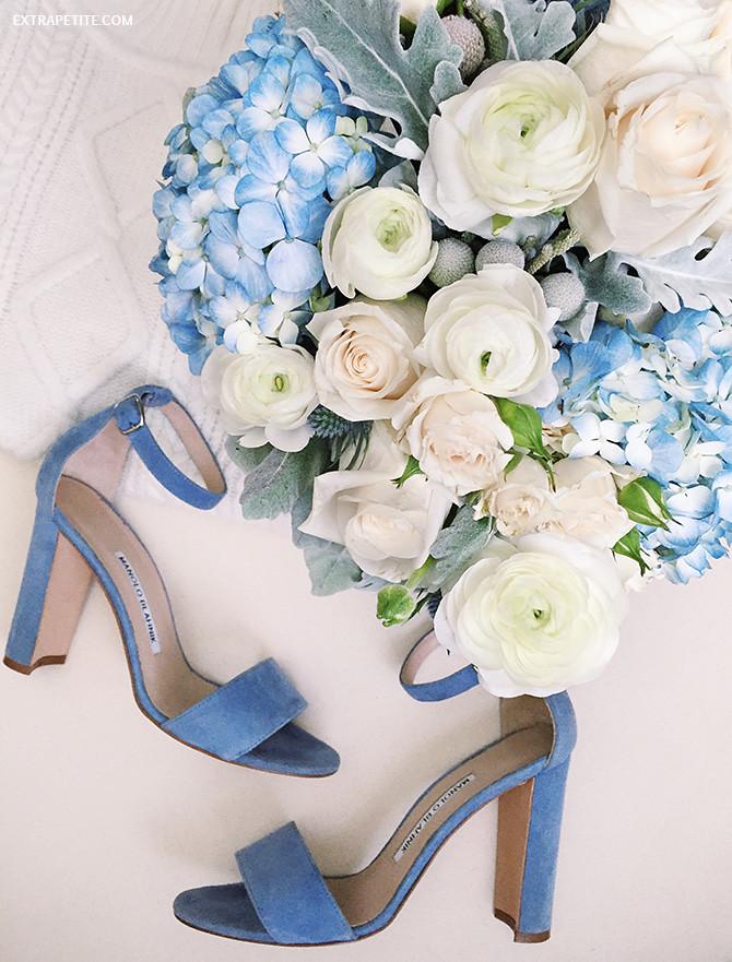 manolo blahnik blue suede wedding shoes sandals