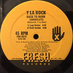 T LA ROCK:BACK TO BURN(LABEL SIDE-A)