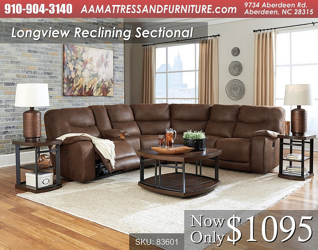 Longview Reclining Sectional WM