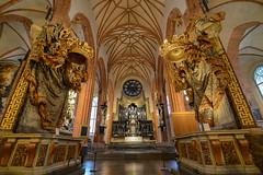 Royal Pews and their crowns - Sankt Nikolai kyrka