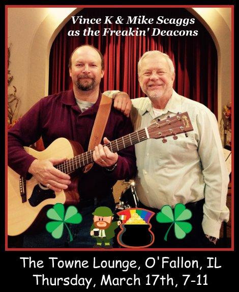 Vince K & Mike Scaggs as Freakin' Deacons 3-17-16
