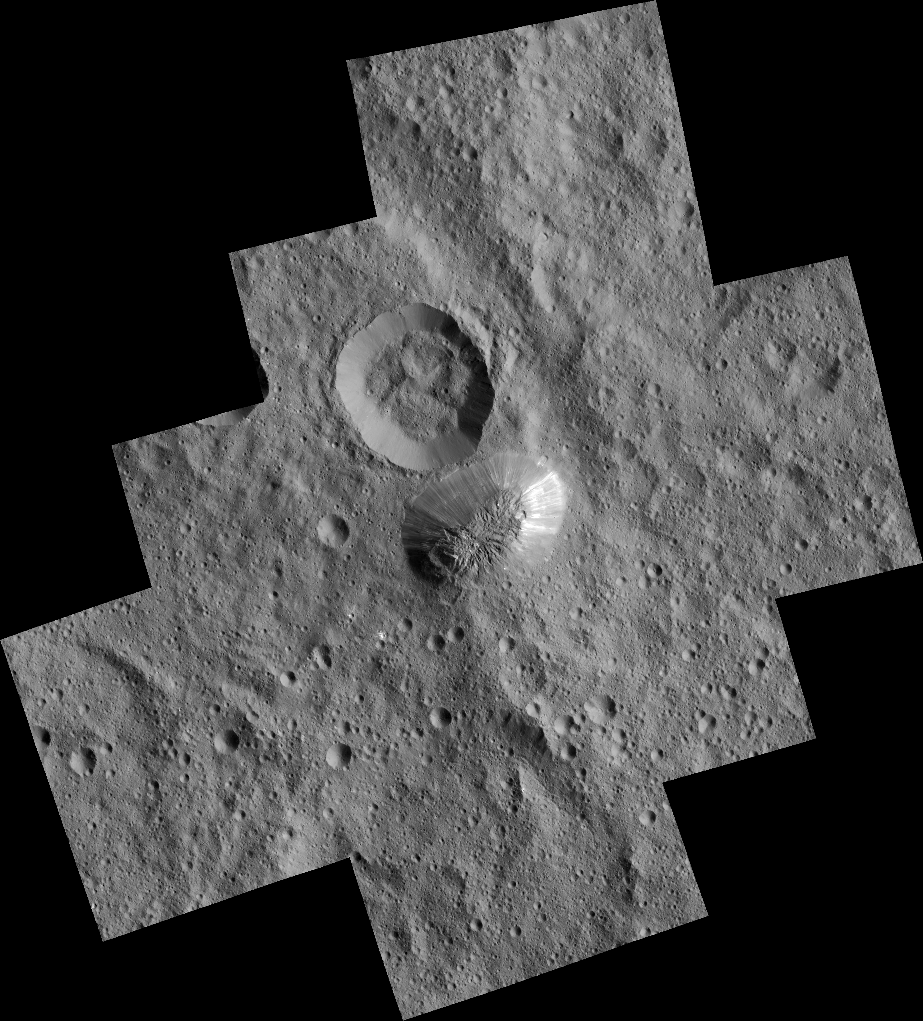 Ahuna Mons on Ceres Seen From Low-Altitude Mapping Orbit