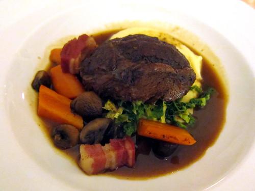 Slow Cooked Beef Cheek (Bourguignon)