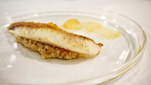 """Salmonetes de roca con quinoa de """"bellota"""""""