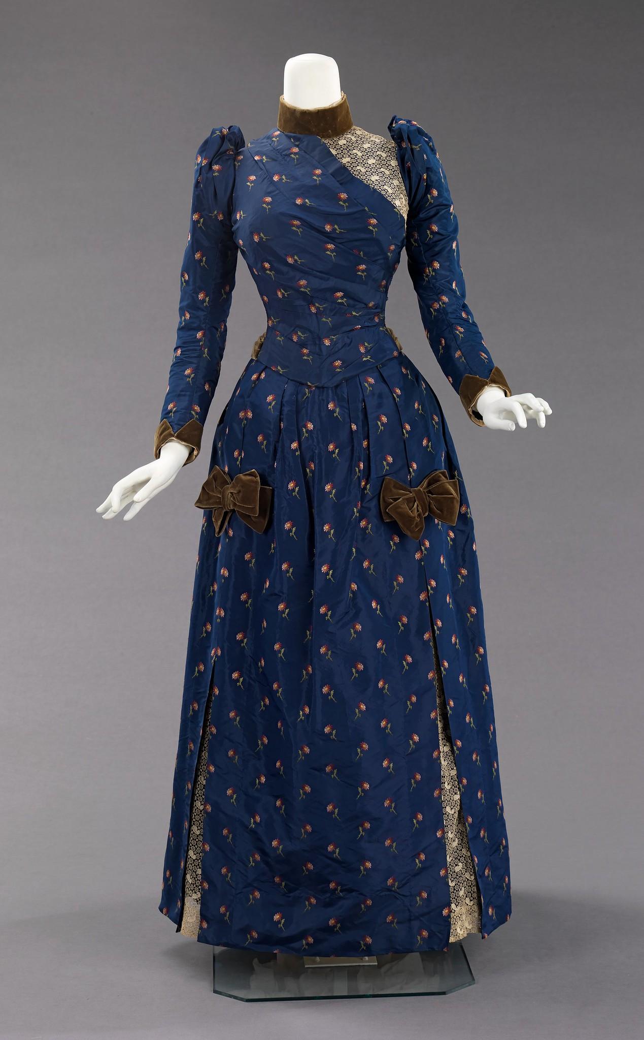 1888. American. Silk, linen, cotton. metmuseum