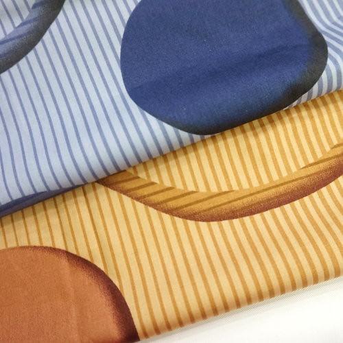 幾合圓球城市 精梳棉床品床單布料 CA490329