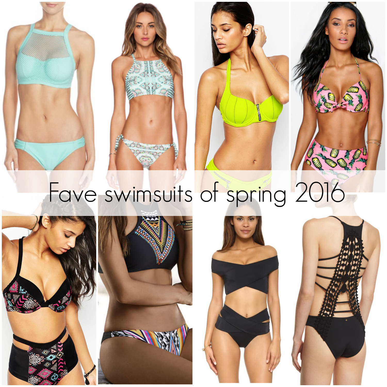 Swimsuit favorites of spring 2016
