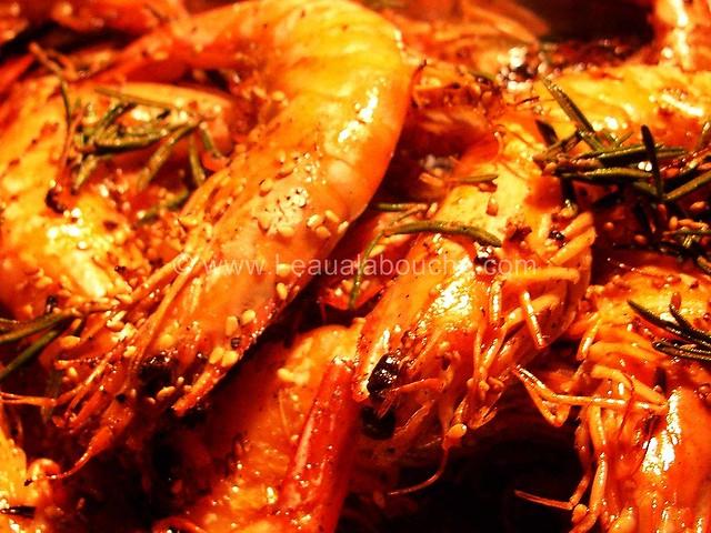 Crevettes Fleur de Sel & Huile de Sésame © Ana Luthi Tous droits réservés 04