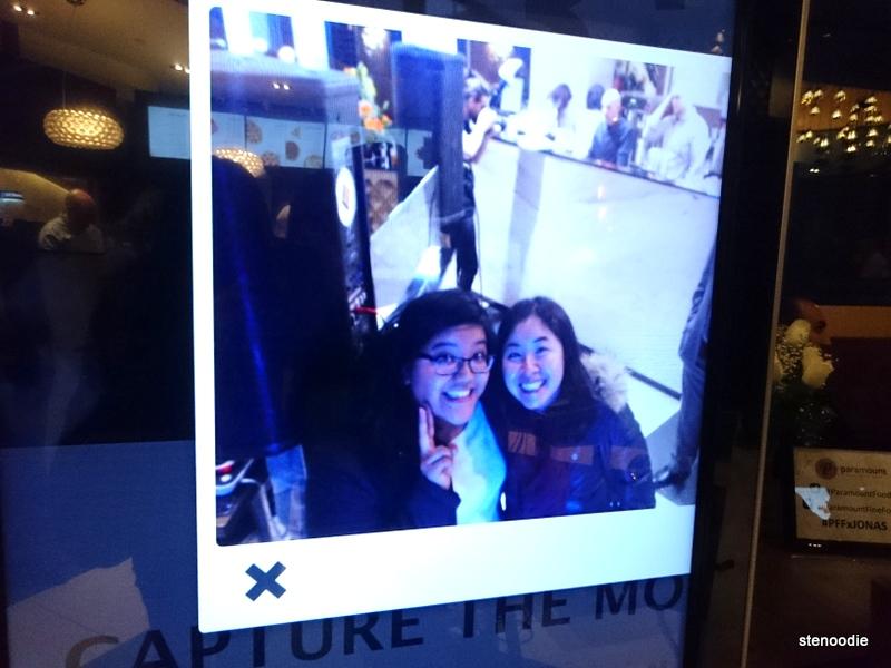 Selfie screen