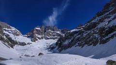 La Meije 3983m od południa (ze schroniska  Refuge du Chatelleret 2225m )