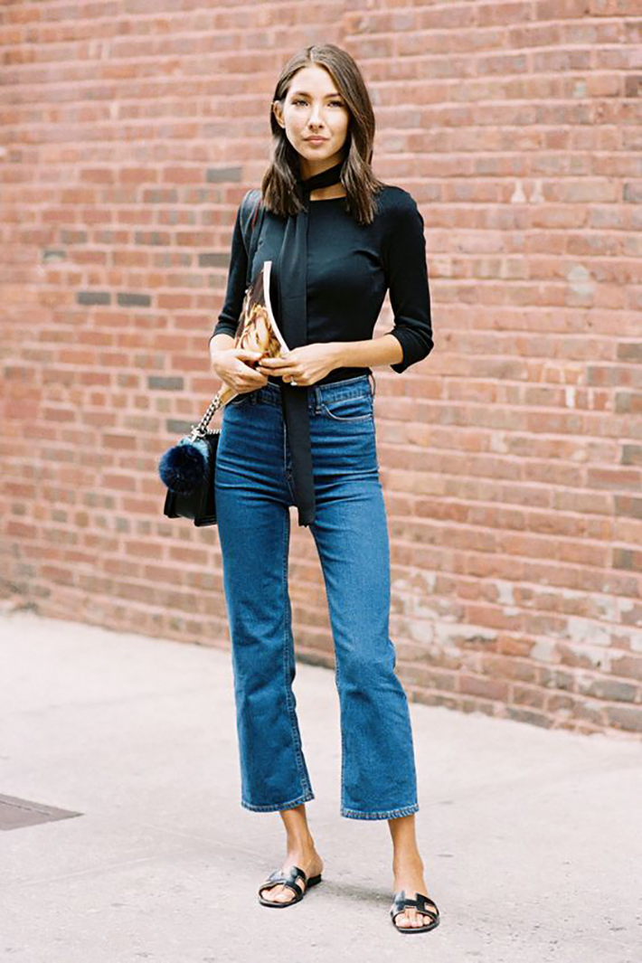 cropped flare jeans5