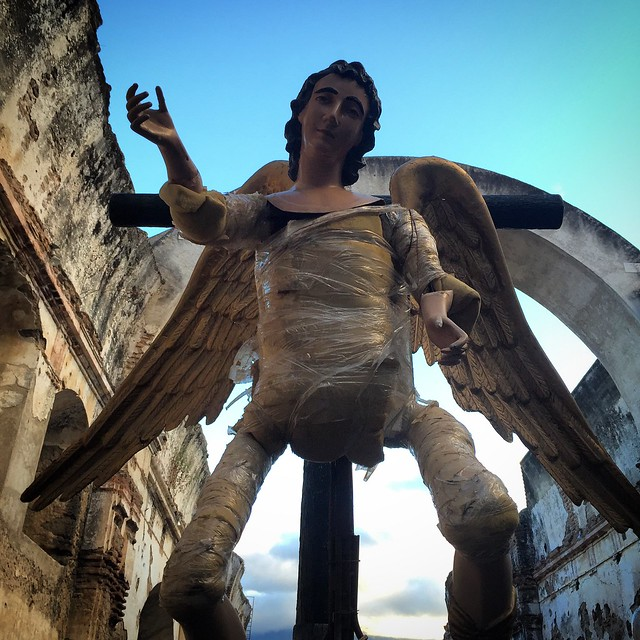 A San Miguel statue under construction. I assume he will be getting a robe.