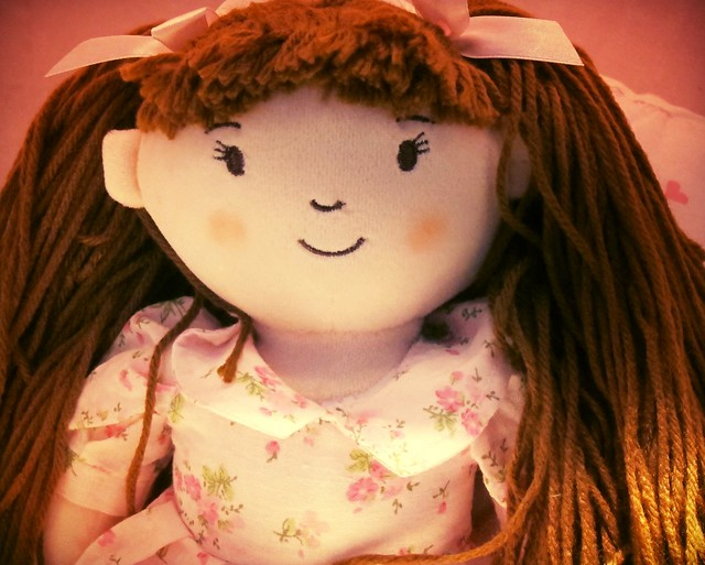 Agatha - a doll with brown hair