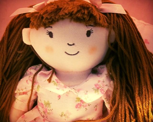 Agatha - a doll with brown hair