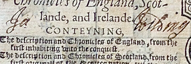 Holinshed's Chronicle of England