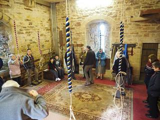 view inside Flookburgh ringing room
