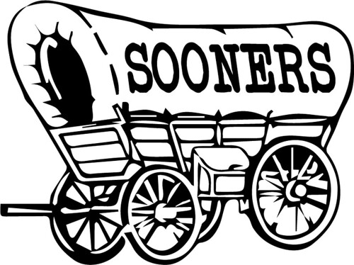 Oklahoma sooners wagon clip art sketch coloring page for Ou sooners coloring pages