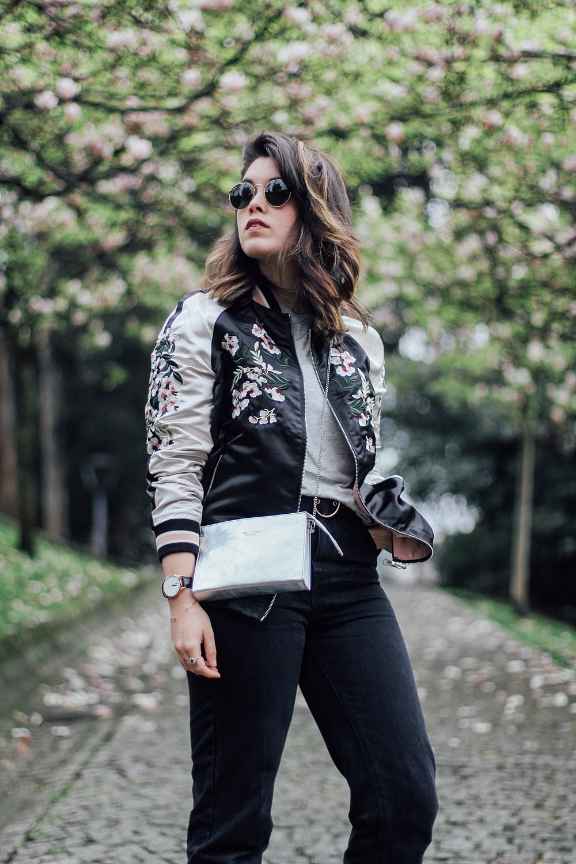 bomber reversible jacket with embroidery detail stradivarius bloggers myblueberrynightsblog