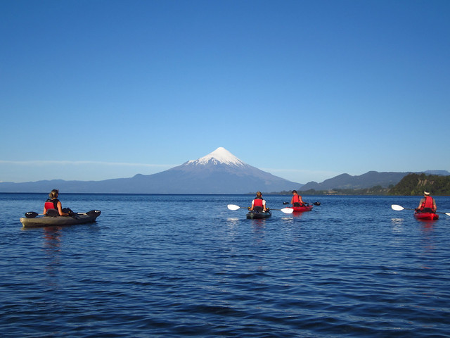Kayaking in Lago Llanquihue, near Puerto Varas, Chile
