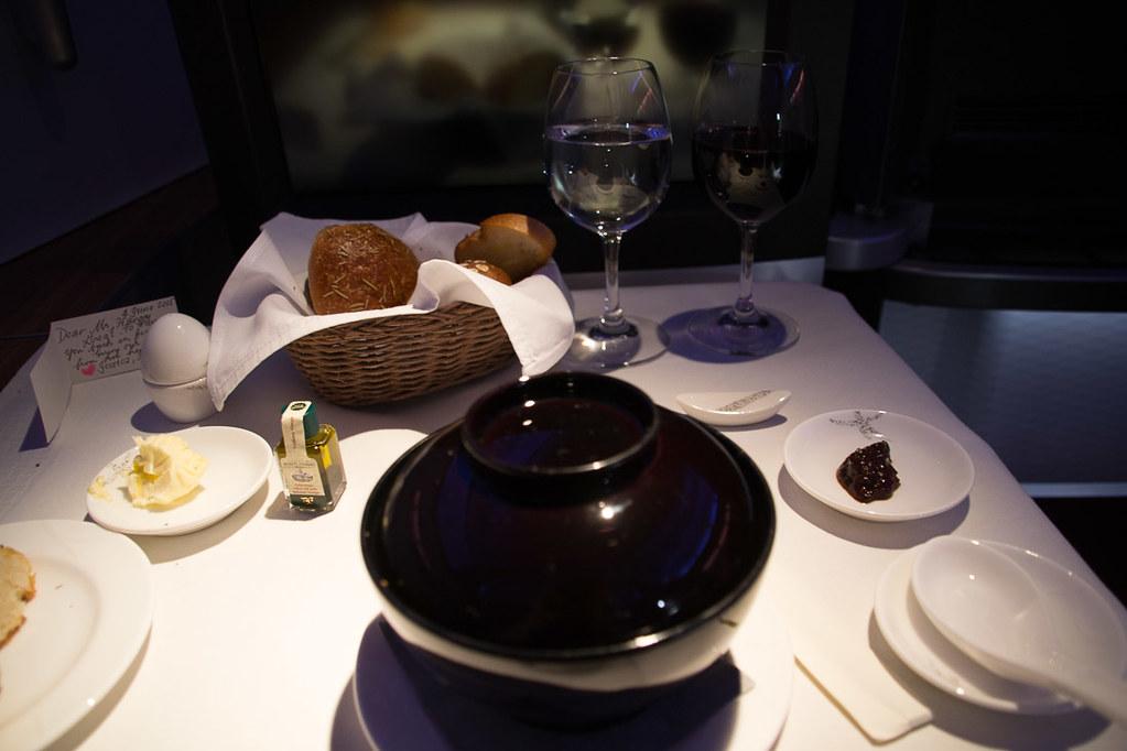 Cathay Pacific First Class Dining