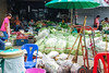 Vegetable vendor at wet market