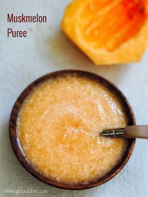 Muskmelon Puree Recipe for Babies2