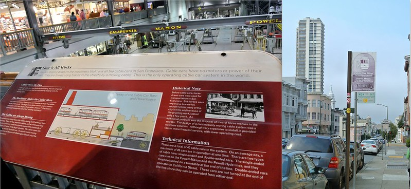 Cable car museum in San Francisco. How the cable car works and a cable car stop #JFashionblog