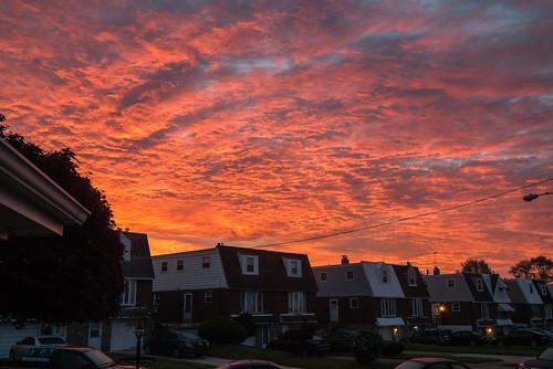morning sky philadelphia clouds sunrise us spring nikon unitedstates bright pennsylvania philly northeastphiladelphia torresdale d800e